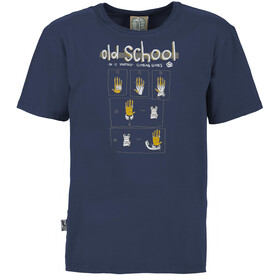 E9 Old School T-shirt Heren, blauw